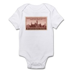 Smithsonian 3 Cent Stamp Infant Bodysuit
