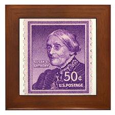 Susan B Anthony 50 Cent Stamp Framed Tile