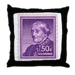 Susan B Anthony 50 Cent Stamp Throw Pillow