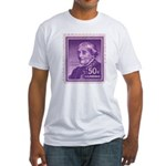 Susan B Anthony 50 Cent Stamp Fitted T-Shirt