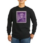Susan B Anthony 50 Cent Stamp Long Sleeve Dark T-S