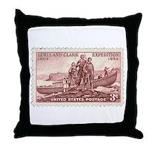 Lewis & Clark 3 Cent Stamp Throw Pillow