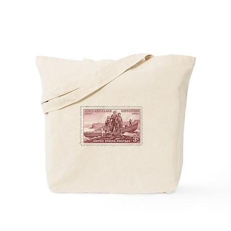 Lewis & Clark 3 Cent Stamp Tote Bag