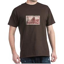 Lewis & Clark 3 Cent Stamp Dark T-Shirt