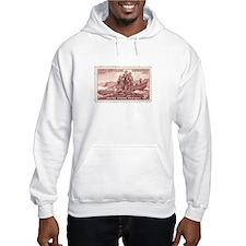 Lewis & Clark 3 Cent Stamp Hooded Sweatshirt