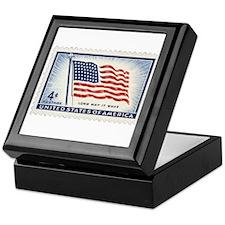 USA Flag 4 Cent Stamp Keepsake Box