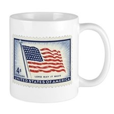 USA Flag 4 Cent Stamp Mug