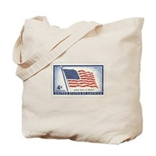 USA Flag 4 Cent Stamp Tote Bag
