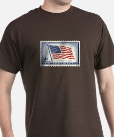USA Flag 4 Cent Stamp T-Shirt