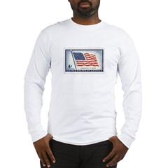 USA Flag 4 Cent Stamp Long Sleeve T-Shirt