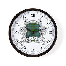 MacLeod Tartan Shield Wall Clock