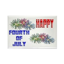 July 4th Fireworks Rectangle Magnet