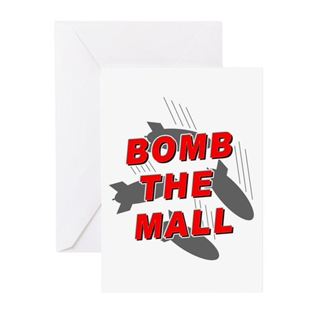 Bomb the Mall Greeting Cards (Pk of 10)