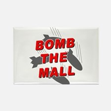 Bomb the Mall Rectangle Magnet