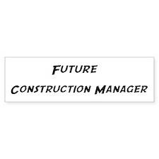 Future Construction Manager Bumper Car Sticker