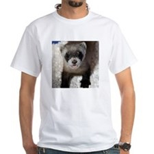 Black-footed Ferret White T-Shirt