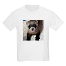 Black-footed Ferret Kids Light T-Shirt