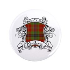 "MacLean Tartan Shield 3.5"" Button"