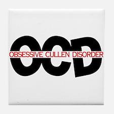 OCD: Obsessive Cullen Disorde Tile Coaster