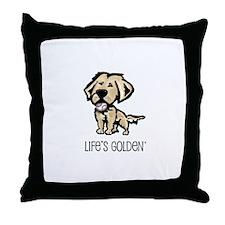 Life's Golden Baseball Throw Pillow
