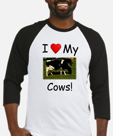 Love My Cows Baseball Jersey