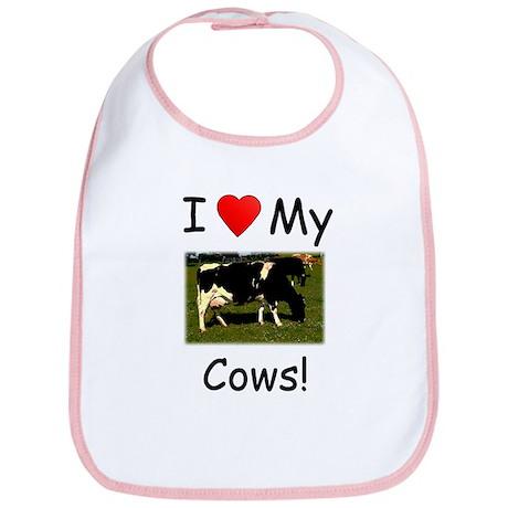 Love My Cows Bib