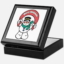 Merry Christmas Snowman Keepsake Box