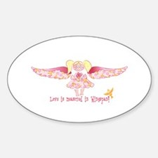 Love is measured in wingspan! Oval Decal