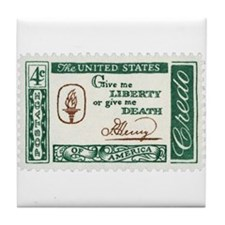 Give Me Liberty 4-cent Stamp Tile Coaster