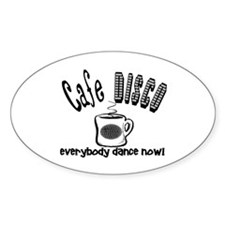 Cafe Disco Oval Decal