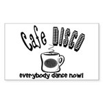 Cafe Disco Rectangle Sticker