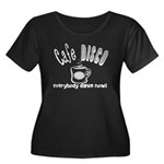 Cafe Disco Women's Plus Size Scoop Neck Dark T-Shi