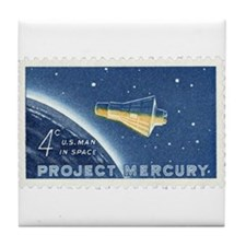 Project Mercury 4-cent Stamp Tile Coaster