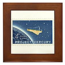 Project Mercury 4-cent Stamp Framed Tile