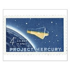 Project Mercury 4-cent Stamp Small Poster