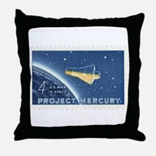 Project Mercury 4-cent Stamp Throw Pillow