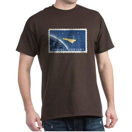 Project Mercury 4-cent Stamp Dark T-Shirt