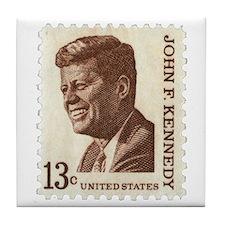 JFK 13 Cent Stamp Tile Coaster