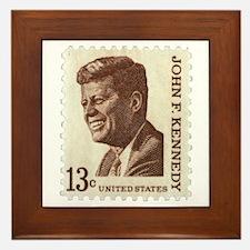 JFK 13 Cent Stamp Framed Tile