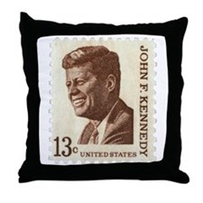 JFK 13 Cent Stamp Throw Pillow