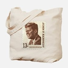 JFK 13 Cent Stamp Tote Bag