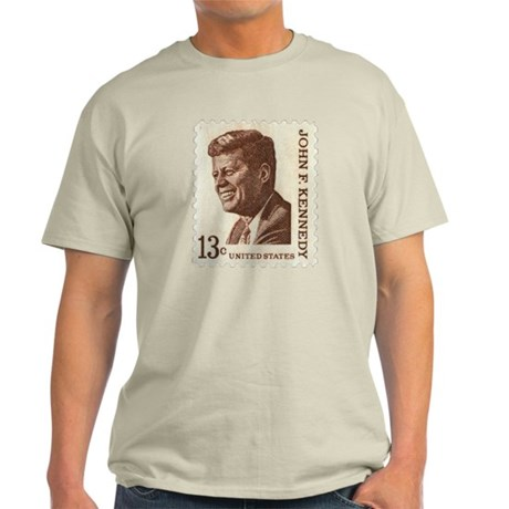 JFK 13 Cent Stamp Light T-Shirt