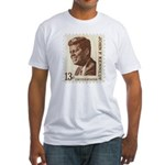 JFK 13 Cent Stamp Fitted T-Shirt