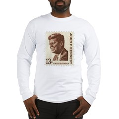 JFK 13 Cent Stamp Long Sleeve T-Shirt