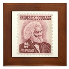 Frederick Douglass 25-cent Stamp Framed Tile