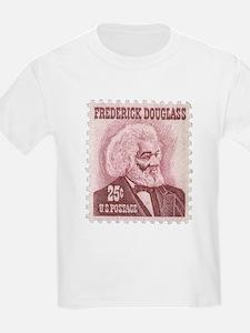 Frederick Douglass 25-cent Stamp Kids Light Shirt