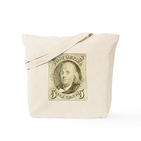 Ben Franklin 5-cent Stamp Tote Bag