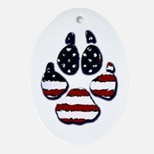 American Dog Oval Ornament