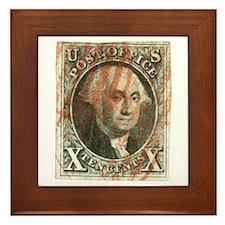 George Washington 10 Cent Stamp Framed Tile