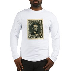 Abraham Lincoln 15-cent Stamp Long Sleeve T-Shirt
